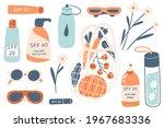 sun safety elements. cute set...   Shutterstock .eps vector #1967683336