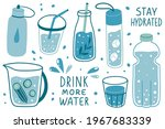 drink more water concept. stay...   Shutterstock .eps vector #1967683339