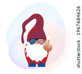 Patriotic Gnome With Trendy...