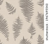 Natural Fern Leaf Print...