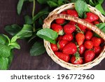 Ripe Sweet Strawberries In...