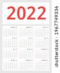 wall calendar template for 2022 ... | Shutterstock .eps vector #1967749336