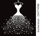 wedding dress   Shutterstock .eps vector #196774988