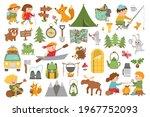 vector summer camp set. camping ...   Shutterstock .eps vector #1967752093