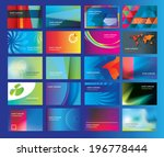 collection of business cards... | Shutterstock .eps vector #196778444