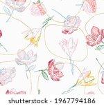 beautiful retro linear  lines...   Shutterstock .eps vector #1967794186