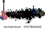 electric guitar and the flag of ... | Shutterstock . vector #1967806660