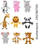 animal cartoon posing | Shutterstock .eps vector #196780700
