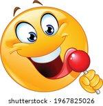happy emoji emoticon licking a...   Shutterstock .eps vector #1967825026