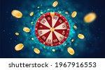vector 3d fortune wheel with...   Shutterstock .eps vector #1967916553
