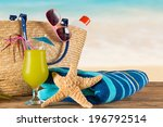 close up of summer accessories... | Shutterstock . vector #196792514