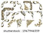vector set of vintage baroque... | Shutterstock .eps vector #1967946559