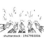 hand drawn of hands clapping... | Shutterstock .eps vector #1967983006