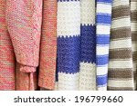 close up of colorful wool... | Shutterstock . vector #196799660
