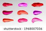 lipstick swatches  smears of... | Shutterstock .eps vector #1968007036