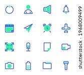 basic ui line icons set  user...