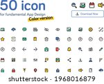 50 color icon pack for...