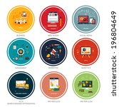icons for web design  seo ... | Shutterstock .eps vector #196804649