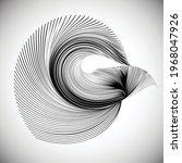 lines in unusual form . sphere...   Shutterstock .eps vector #1968047926