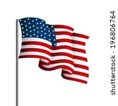 usa design over white... | Shutterstock .eps vector #196806764