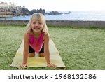 cute happy little girl in...   Shutterstock . vector #1968132586