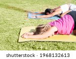 family workout. young sporty...   Shutterstock . vector #1968132613