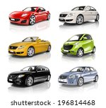 group of 3d cars | Shutterstock . vector #196814468