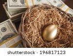 Golden Egg In Nest With...