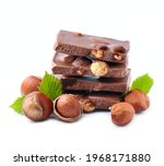 Chocolate With Filbert Nuts On...