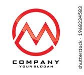 initial letter m line logo...   Shutterstock .eps vector #1968234583