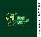 mental health awareness week... | Shutterstock .eps vector #1968239989