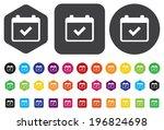 calendar icon | Shutterstock .eps vector #196824698