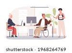 wheelchair user working in... | Shutterstock .eps vector #1968264769