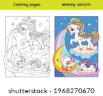 mommy unicorn with two sleeping ... | Shutterstock .eps vector #1968270670