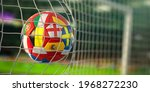 Football Ball With Flags Of...