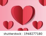 love background with red heart... | Shutterstock .eps vector #1968277180