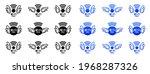 wi   fi free. free wireless... | Shutterstock .eps vector #1968287326