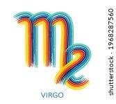 zodiac sign virgo isolated on... | Shutterstock .eps vector #1968287560