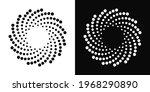 abstract dotted spiral vortex.... | Shutterstock .eps vector #1968290890