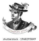 men in steampunk costume hand...   Shutterstock .eps vector #1968295849