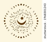 celestial moon sacred astrology ... | Shutterstock .eps vector #1968301243