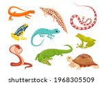 reptile and amphibian species... | Shutterstock .eps vector #1968305509