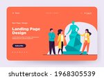 guide telling about sculpture...   Shutterstock .eps vector #1968305539