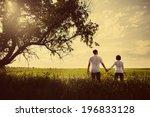 happy couple outdoor ... | Shutterstock . vector #196833128