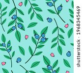 natural botanical pattern with... | Shutterstock .eps vector #1968345469