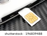 Small photo of SIM card on the smart phone