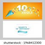 10 years anniversary invitation ...   Shutterstock .eps vector #1968412300