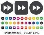 fast forward button | Shutterstock .eps vector #196841243