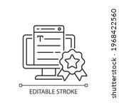 professionalism linear icon.... | Shutterstock .eps vector #1968422560