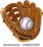 baseball mitt and baseball ball | Shutterstock . vector #1968433249